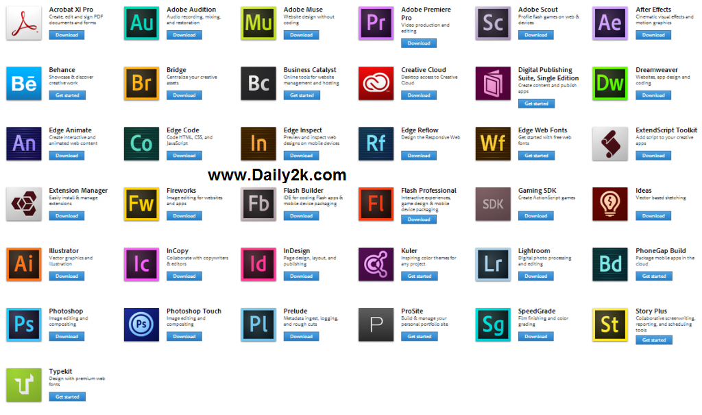 Adobe Creative Cloud Crack 2015 All Product Keygen