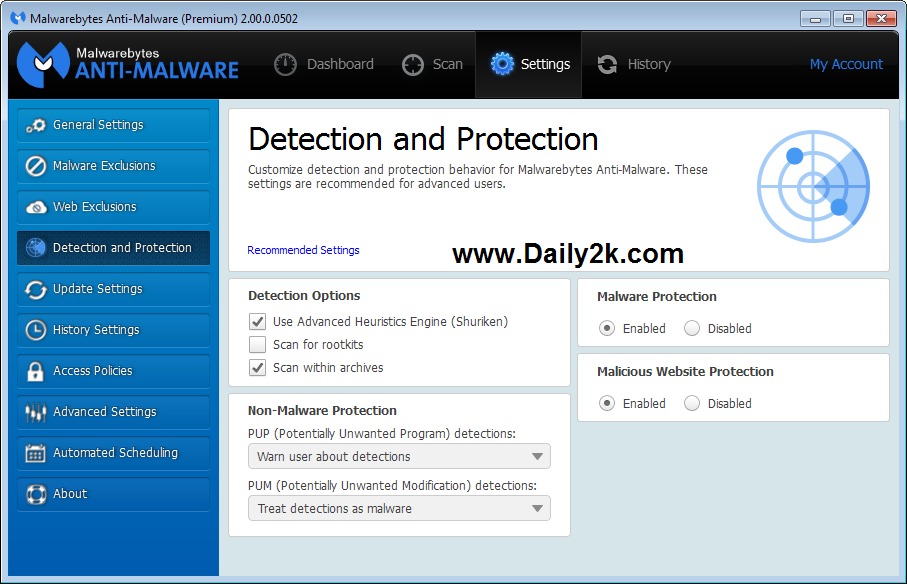 Malwarebytes Anti Malware Premium 2.1.8.1057 Serial Keys Download