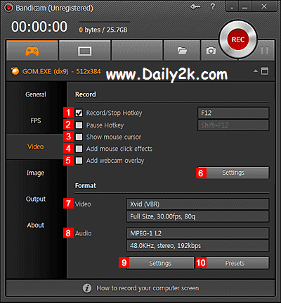 Bandicam 2.1.0.707 Crack,Patch Full Download New Version with Me