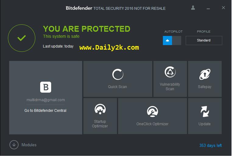 Bitdefender Total Security 2016 Key Full Latest Updatd is Here!