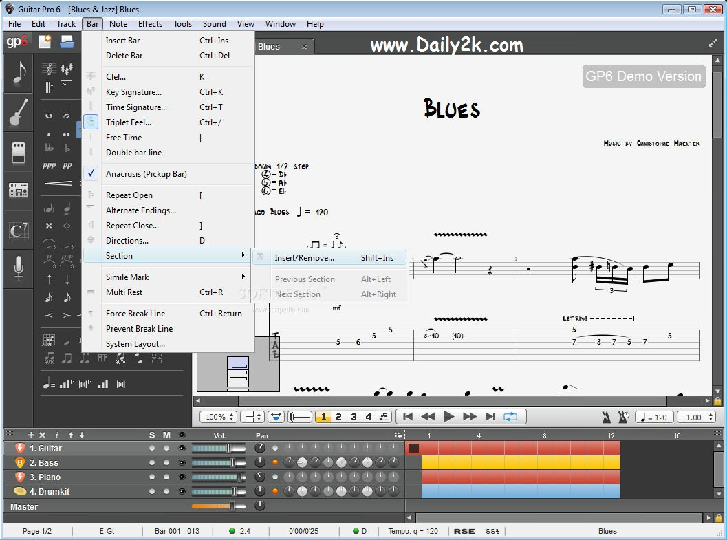 Guitar Pro 6 Keygen, Crack New Update BY ( daily2soft.com)