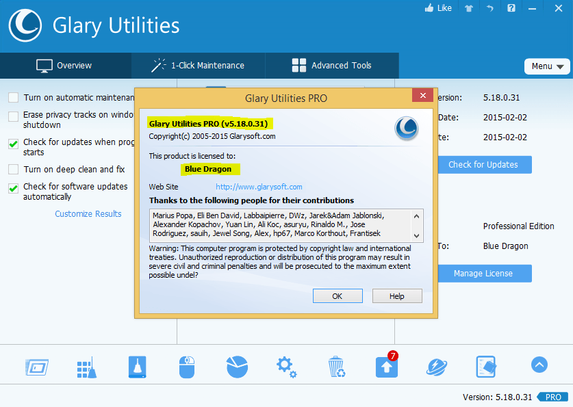Glary Utilities 5.18 Pro Serial Key,Keygen,-daily2k