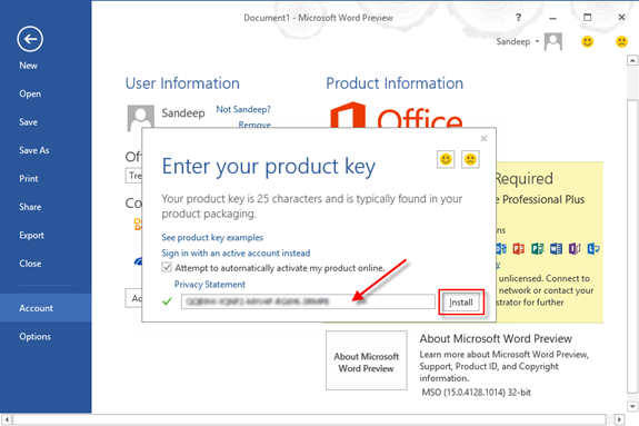 Microsoft Office 2013 Product Key Download Latest Version