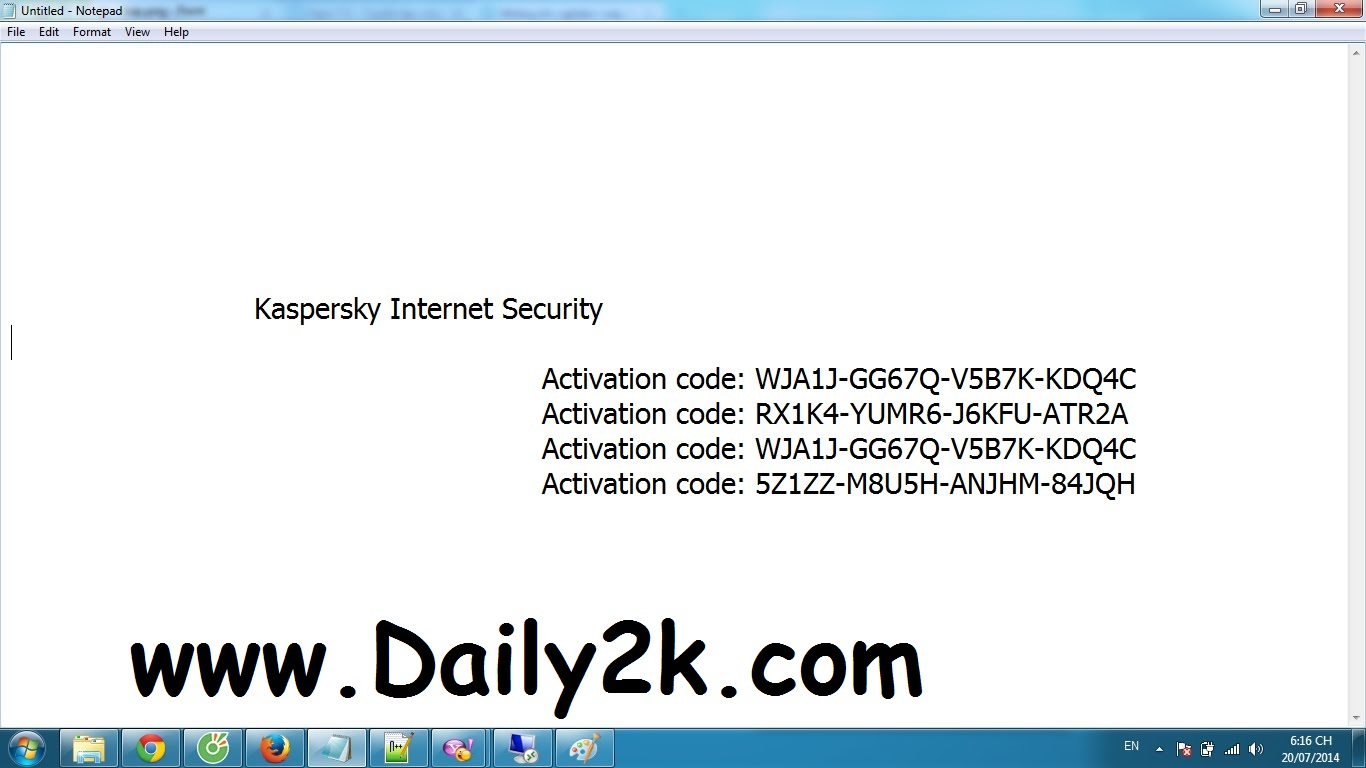 kaspersky key to activation code