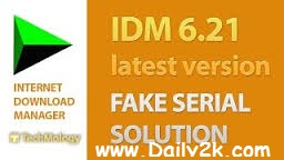IDM Fake Serial Number Problem Solution Free Download-Daily2k