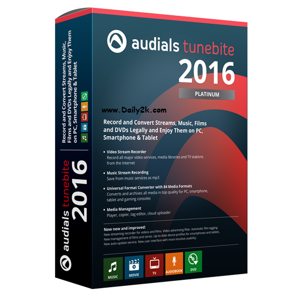 Audials Tunebite 2016 Platinum 14.0.6 Crack Plus Daily2k