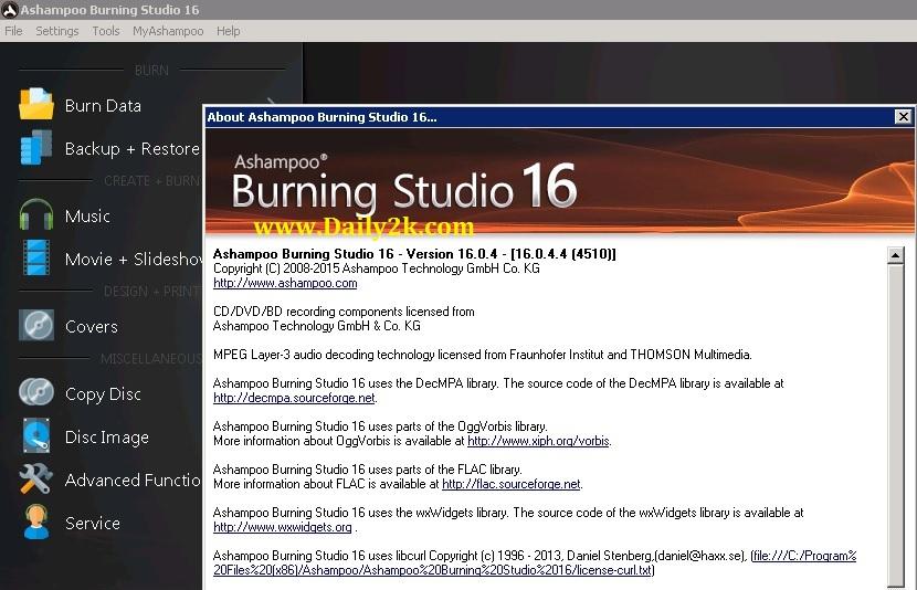 Ashampoo Burning Studio Full- Daily2k