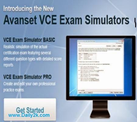 Avanset VCE Exam Simulator Free-Daily2k