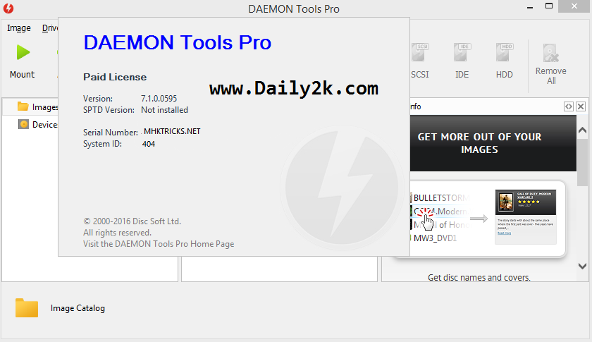Daemon Tools Pro 7.1 Activator With Serial-Daily2k