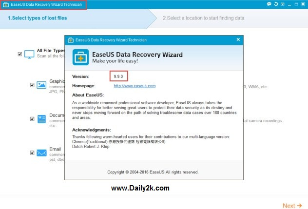 EaseUS Data Recovery Wizard free -daily2k