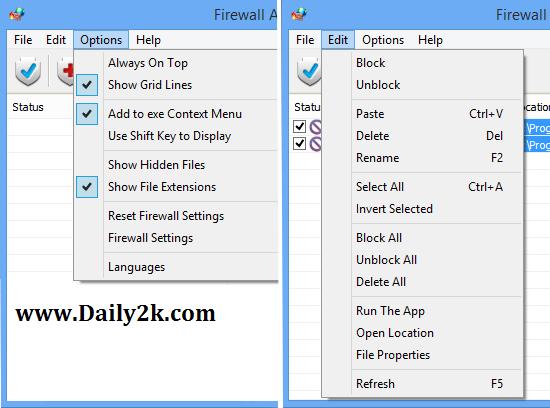 Firewall App Blocker v1.4 Free Download Latest Daily2k