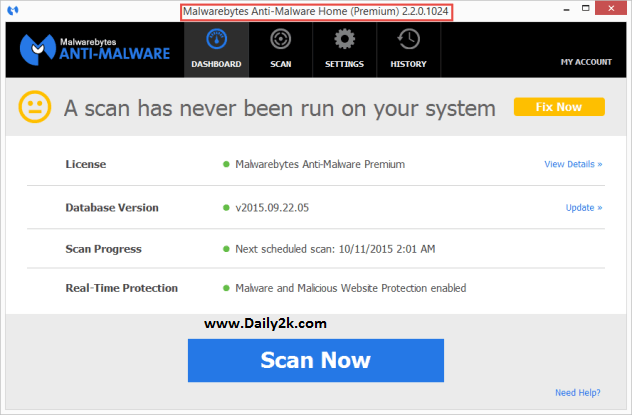Malwarebytes Anti-Malware 3.0.1 Serial Key Puls Daily2k