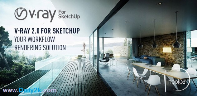 V-Ray 2.0 For SketchUp 2016 Free-Daily2k