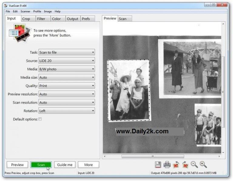 VueScan Pro 9.5.42 Crack,Keygen-Daily2k