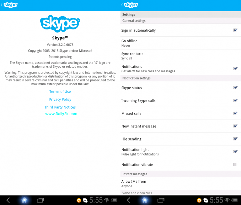 Download Skype v6.33.0.57 APK Latest-Daily2k