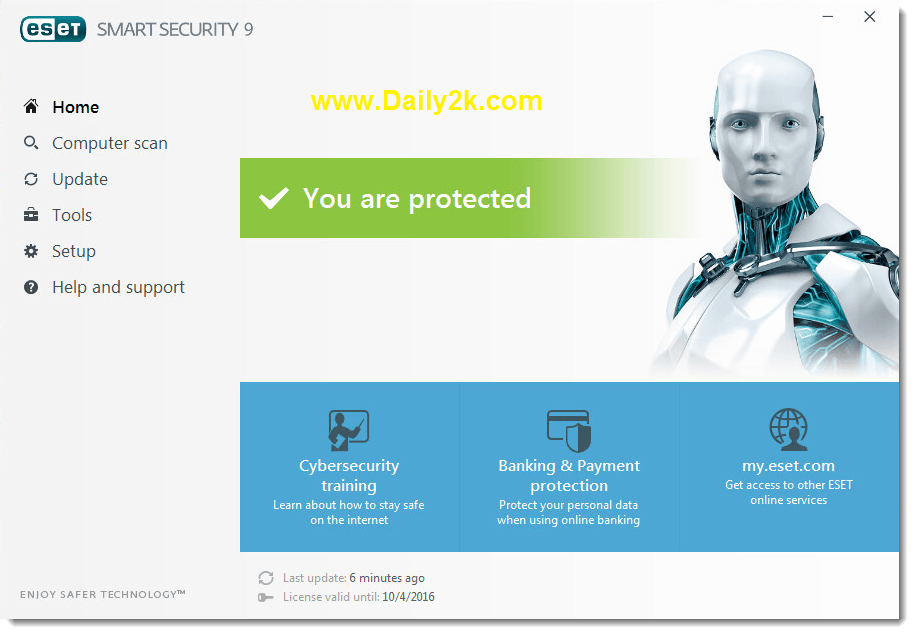 ESET NOD32 Antivirus 9 Serial Key download Daily2k