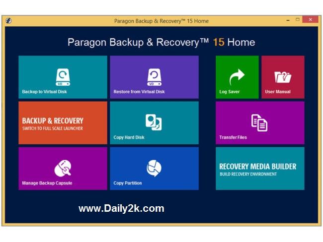 Paragon Backup & Recovery 15 Crack,Keygen 2015-Daily2k