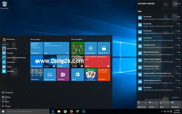 Windows 10 Pro Build 10240 ISO 32-Bit & 64-Bit Product key, Activator Download! Daily2k