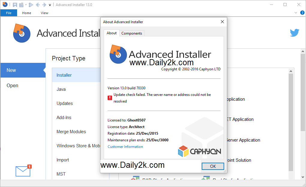 Advanced Installer 13.0 Architect Full Crack Free Latest Update-Daily2k