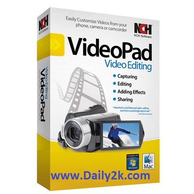 NCH VideoPad Video Editor Professional 4.40 With Crack And Keygen-Daily2k