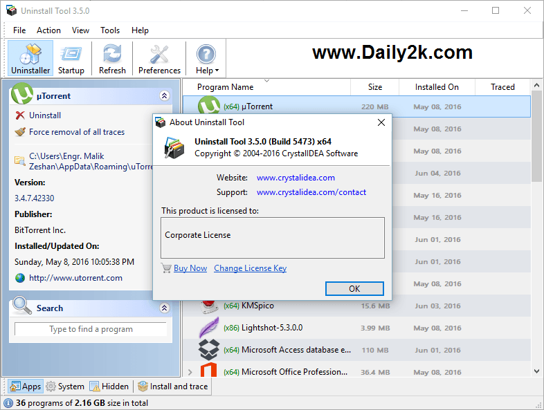 Uninstall Tool 3.5 Full Crack Free Download-Daily2k