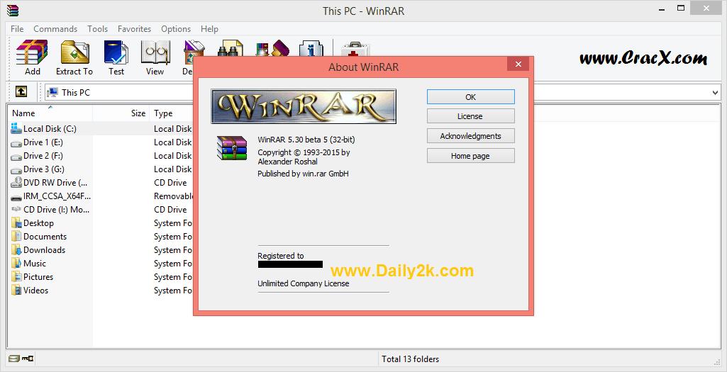 WinRAR 5.30 Beta 5 Full Crack With Serial Key Full Free Download