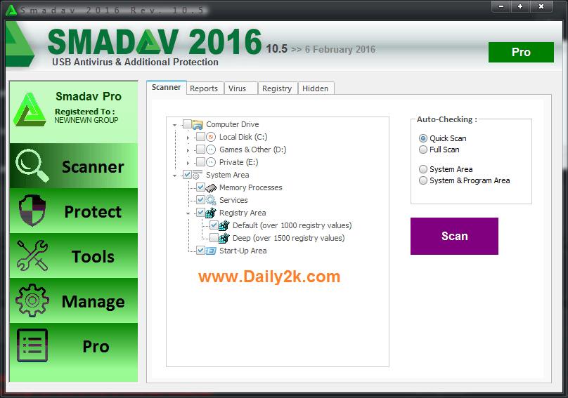 smadav pro2016 Serial Key Download-Daily2k