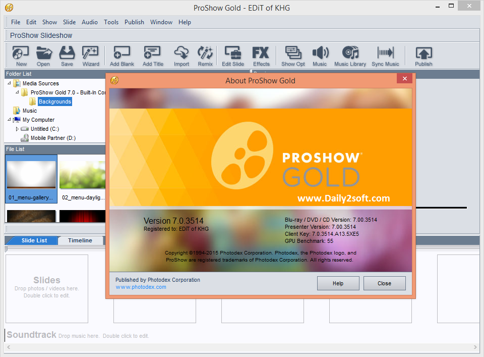 ProShow Gold 7 Crack Patch + Registration key Free Full Download HERE!!