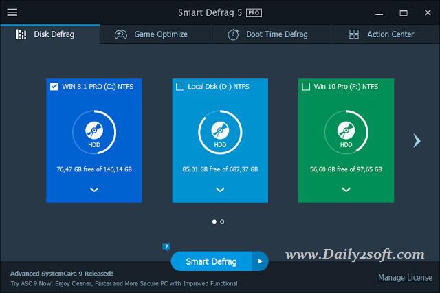 Smart Defrag 5 Key 2016 Crack Download Full Version With Working Link