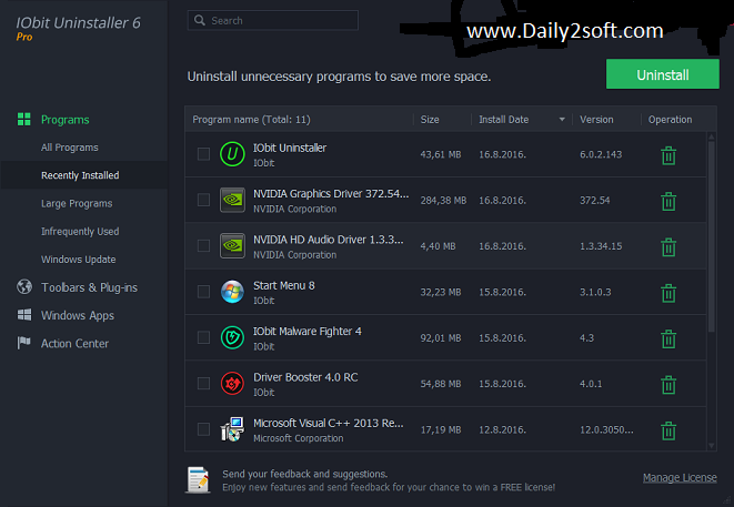 Iobit Uninstaller Pro 6.0.2 Daily2soft]