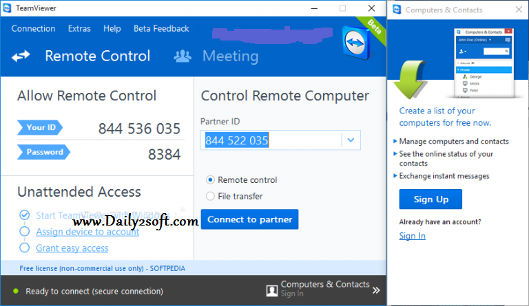 TeamViewer 11.0.66695 Crack Key + License Code-Daily2soft