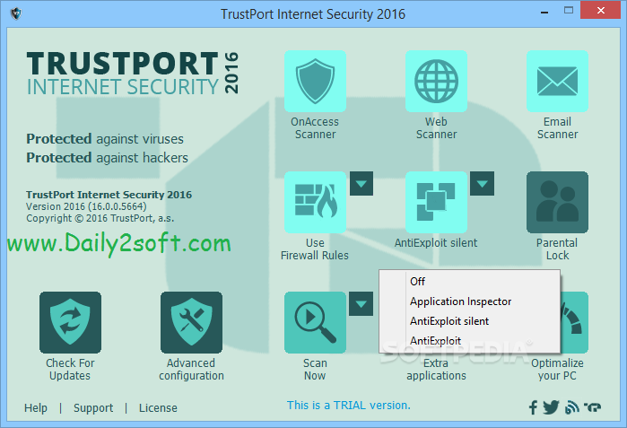 TrustPort Total Protection 2016 Crack,Product Key Full [ Free ] Download