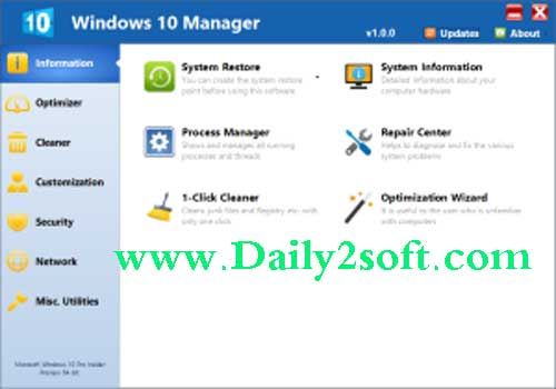 Yamicsoft Windows 10 Manager 2.2.2 And Full Portable Free Download