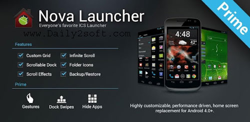 Nova Launcher Pro 5.5.4 Prime APK Cracked 2018 TeslaCoil [Latest] Download