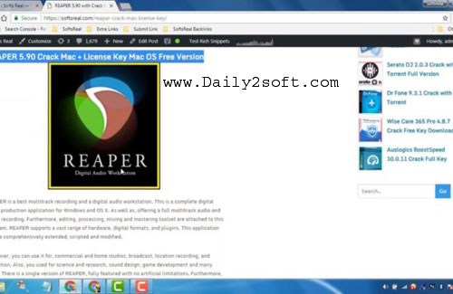 REAPER 5.90 Crack With Keygen Download [Latest] Full Version