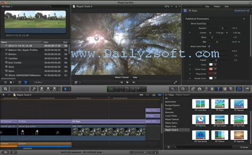 Final Cut Pro Crack X 10.4.2 + Serial Number [Mac + Win] Free Download
