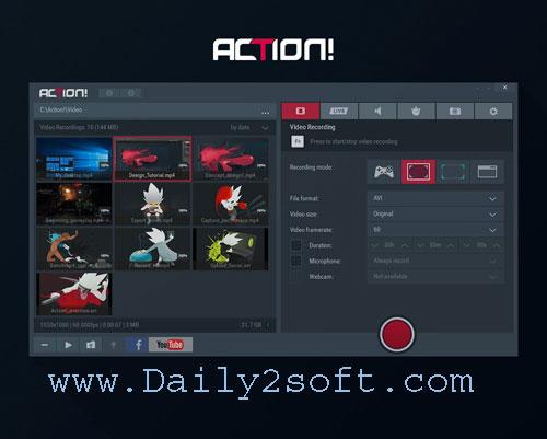 Mirillis Action 3.1.6 Crack & Serial Key Full [Version] Free Download