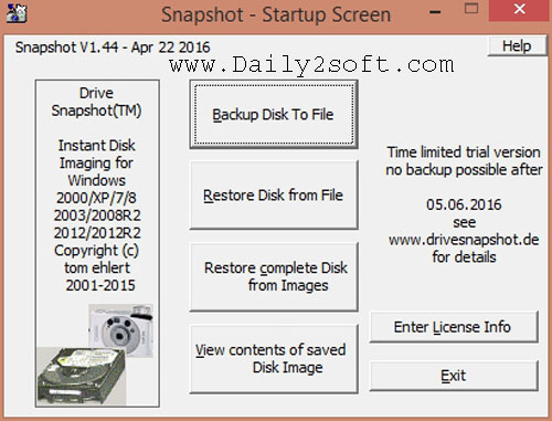 Drive SnapShot 1.46.0.18151 Crack 2018 + Serial Key Free Download [Latest] Here