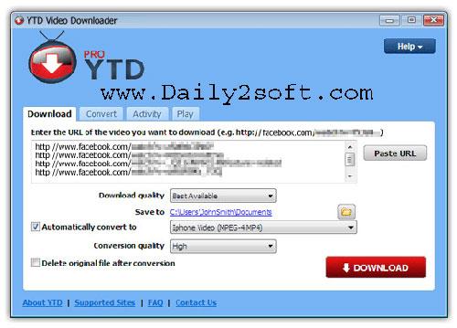 YTD Video Downloader Pro 5.9.10 Crack Free Download [Here]