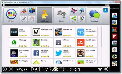 Download BlueStacks App Player Pro 2.0.0.1011 Full Offline MOD Daily2soft