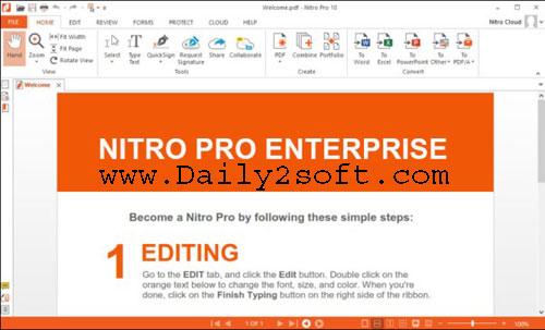Nitro Pro 12.7.0.338 Crack + Keygen [Latest] Download [32bit + 64bit]